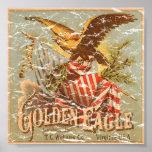 Tabaco 1900 de Eagle de oro - apenado Posters