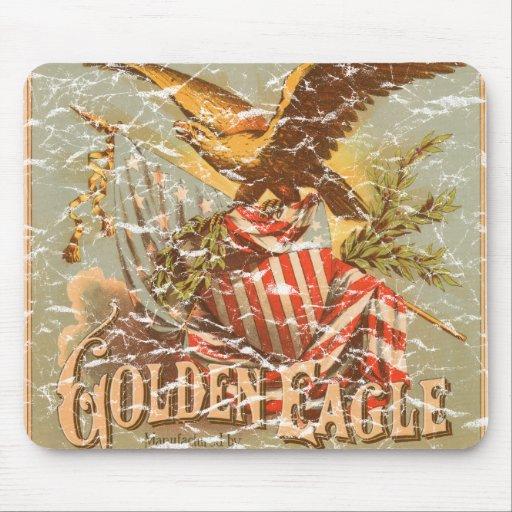 Tabaco 1900 de Eagle de oro - apenado Alfombrillas De Ratón
