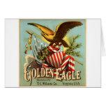 Tabaco 1900 de Eagle de oro Felicitación