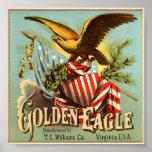 Tabaco 1900 de Eagle de oro Impresiones
