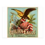 Tabaco 1900 de Eagle de oro Postal