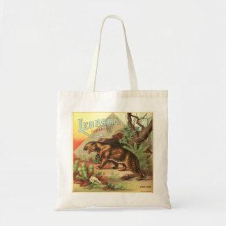 Tabaco 1900 del leopardo bolsas de mano