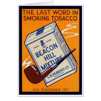 Tabaco 1910 de tubo de Beacon Hill Tarjeta De Felicitación