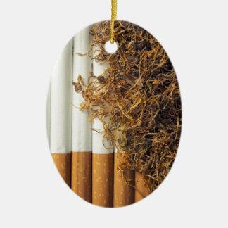 Tabaco Adorno Navideño Ovalado De Cerámica