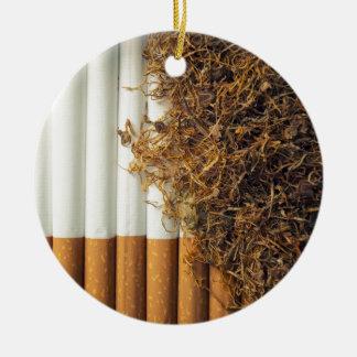 Tabaco Adorno Navideño Redondo De Cerámica