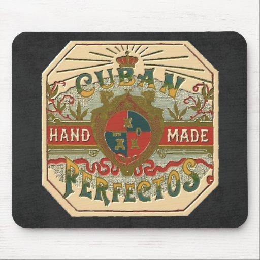 Tabaco de Perfectos del cubano de la etiqueta del Mouse Pad