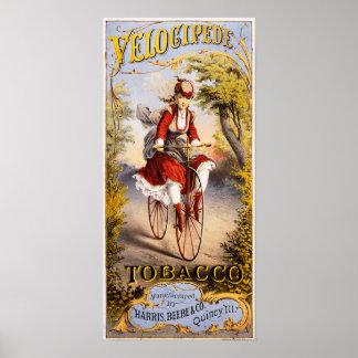 Tabaco del velocípedo póster