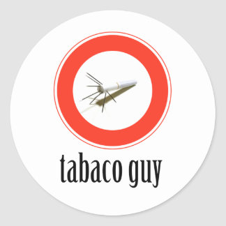 tabaco-guy classic round sticker