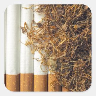Tabaco Pegatina Cuadrada