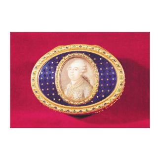 Tabaquera con una miniatura del retrato de Louis Lona Estirada Galerías