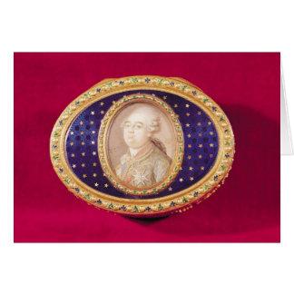 Tabaquera con una miniatura del retrato de Louis Felicitaciones
