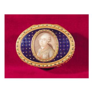 Tabaquera con una miniatura del retrato de Louis Postal