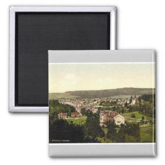 Tabarz, Thuringia, Alemania Photochrom raro Imán Cuadrado