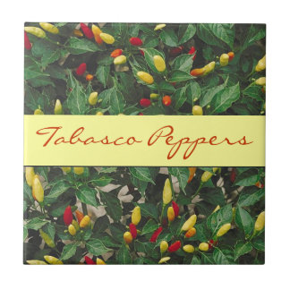 Tabasco Peppers Hot Chili Red Yellow Pepper Plant Tile