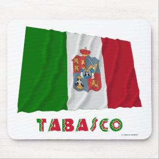 Tabasco que agita la bandera oficiosa tapete de raton