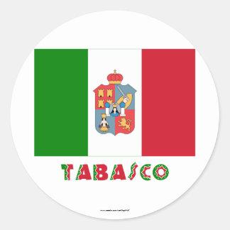 Tabasco Unofficial Flag Classic Round Sticker