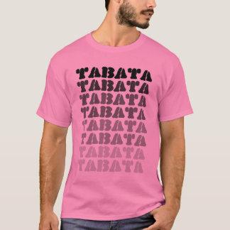 Tabata on Pink Basic Tee