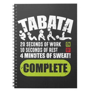 Tabata Workout Fitness Bootcamp Cardio Notebook