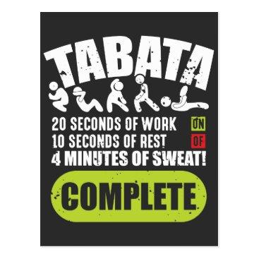Tabata Workout Fitness Bootcamp Cardio Postcard