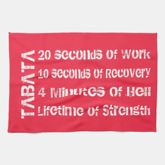 Tabata Workout Hand Towel