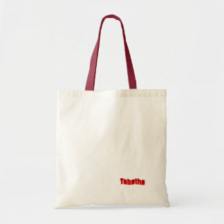 Tabatha Small Red White Tote Bag