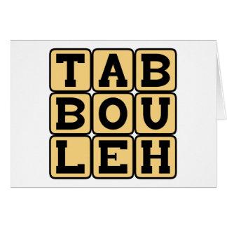 Tabbouleh, Levantine Vegetarian Dish Card