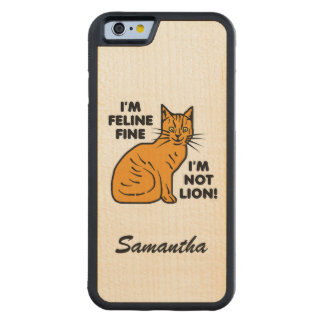 Tabby anaranjado del retruécano divertido del gato funda de iPhone 6 bumper arce