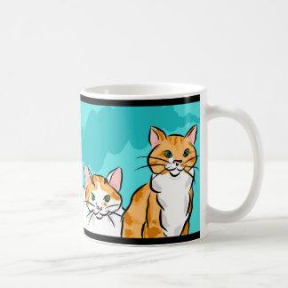 Tabby and Calico Cat Coffee Mug