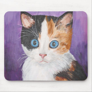 tabby - calico mouse pad
