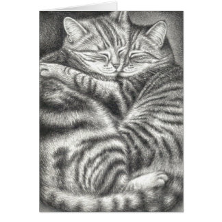 TABBY CAT AFFECTION GREETING CARDS