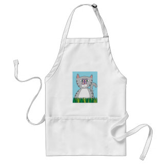 Tabby Cat and Butterfly Adult Apron