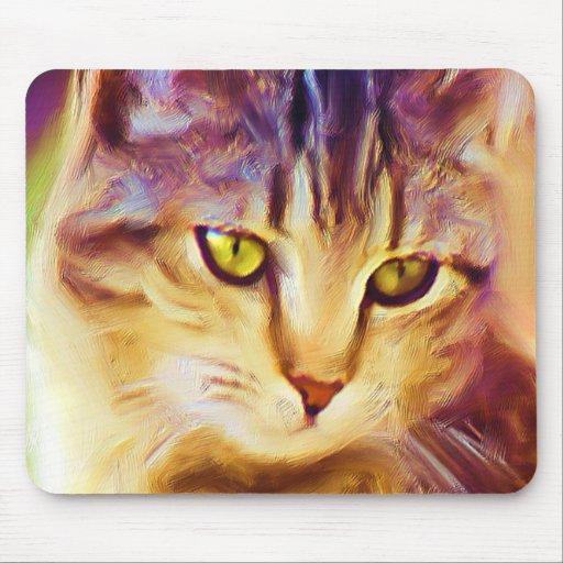 Tabby Cat Art mousepad