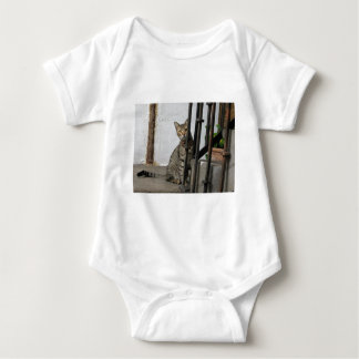 Tabby cat baby shirt