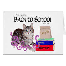Tabby Cat Back to School Card