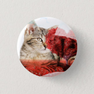 Tabby cat badge pinback button