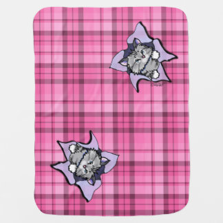 Tabby Cat BLAST Baby Blanket