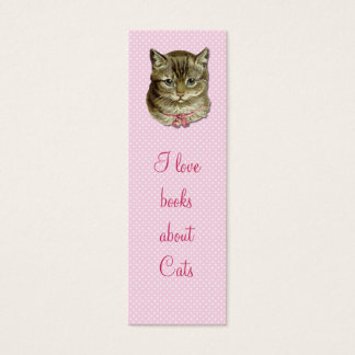 Tabby cat bookmark mini business card