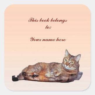 Tabby Cat Bookplate