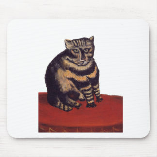 Tabby Cat by Henri Rousseau Mouse Pad