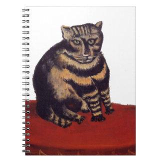 Tabby Cat by Henri Rousseau Notebook