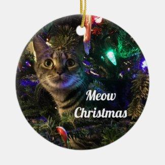 Tabby Cat Christmas Tree Ornament