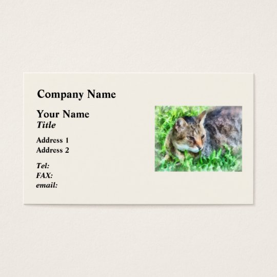 Tabby Cat Closeup Business Card