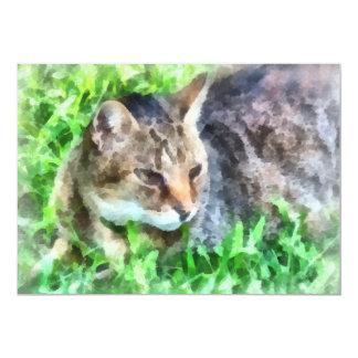 Tabby Cat Closeup Custom Announcements