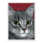 Tabby Cat ~ colored pencil drawing Print