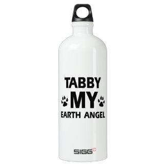 Tabby cat design water bottle