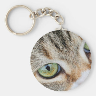 Tabby Cat Eyes Looking At You Keychain