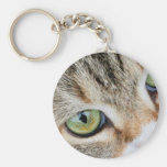 Tabby Cat Eyes Looking At You Keychains