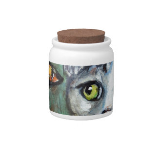 Tabby Cat eyes monarch butterfly Candy Dish
