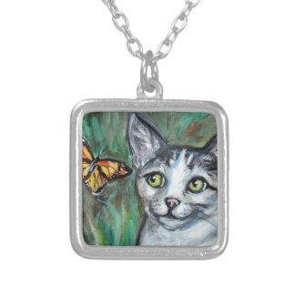 Tabby Cat eyes Monarch Butterfly Jewelry