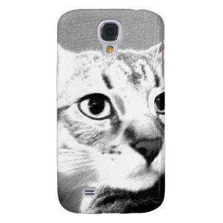 Tabby Cat Face Samsung Galaxy S4 Cases
